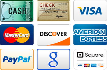 Payments types we accept